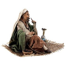 Homme qui fume le narguilé 13 cm crèche Angela Tripi s5