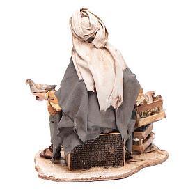 Pastore seduto con colombe 13 cm presepe Angela Tripi s3