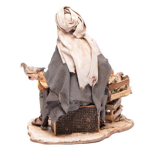 Pastore seduto con colombe 13 cm presepe Angela Tripi 3