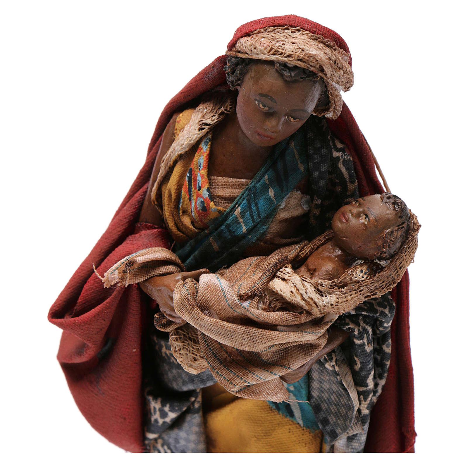 Mujer con niño 13 cm belén Angela Tripi 4