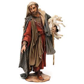 Pastor con corderos 30 cm belén Angela Tripi s1