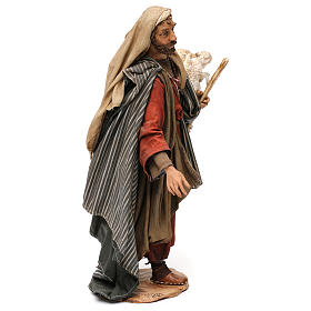 Pastor con corderos 30 cm belén Angela Tripi s4