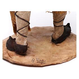 Pastore con agnelli 30 cm presepe Angela Tripi s6
