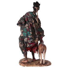Femme maure avec petit d'antilope 30 cm crèche Angela Tripi s7