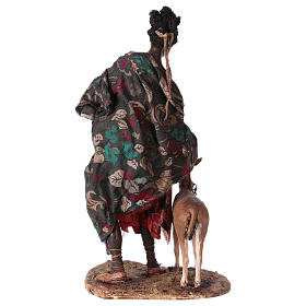 Mora con cucciolo di antilope 30 cm presepe Angela Tripi s7