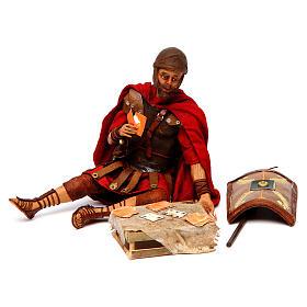 Soldati romani che giocano ai dadi 18 cm presepe Tripi s2