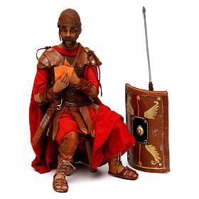 Soldati romani che giocano ai dadi 18 cm presepe Tripi s3
