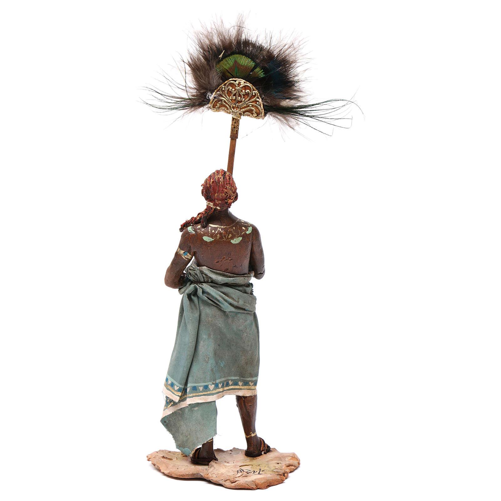 Servo con ventaglio di piume 13 cm Angela Tripi 4
