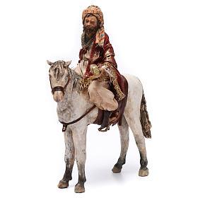 Re Magio a cavallo 13 cm presepe Angela Tripi s1