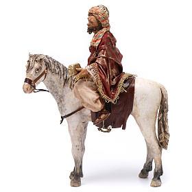 Re Magio a cavallo 13 cm presepe Angela Tripi s3