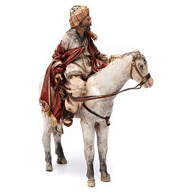 Re Magio a cavallo 13 cm presepe Angela Tripi s4