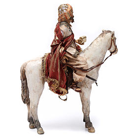 Re Magio a cavallo 13 cm presepe Angela Tripi s5