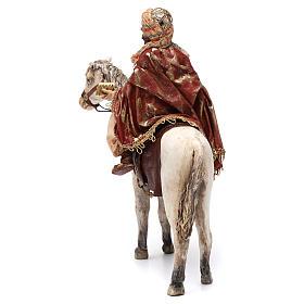 Re Magio a cavallo 13 cm presepe Angela Tripi s6