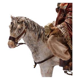 Re Magio a cavallo 13 cm presepe Angela Tripi s7