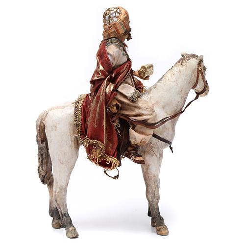 Re Magio a cavallo 13 cm presepe Angela Tripi 5