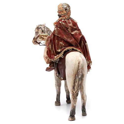 Re Magio a cavallo 13 cm presepe Angela Tripi 6