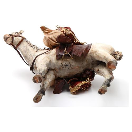 Re Magio a cavallo 13 cm presepe Angela Tripi 8