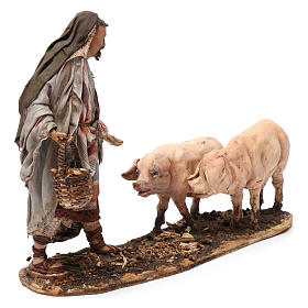 Farmer with pigs 13 cm Angela Tripi Nativity Scene s4
