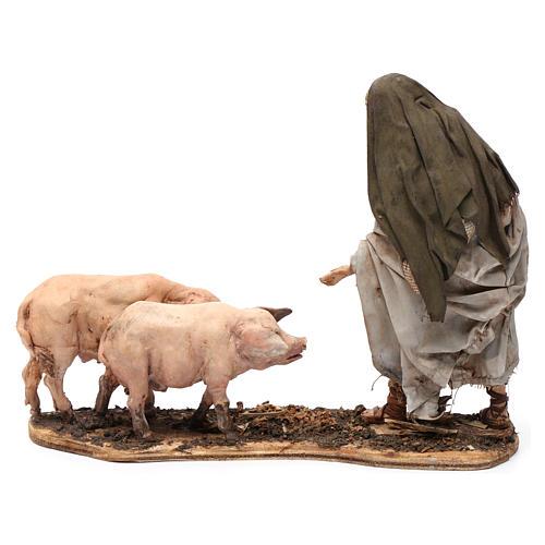 Farmer with pigs 13 cm Angela Tripi Nativity Scene 5