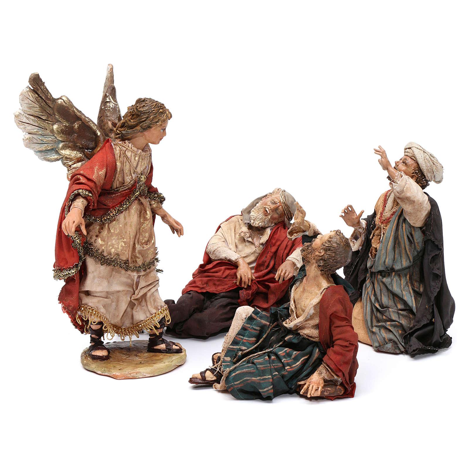 Annunciation to the Shepherds scene, 13 cm Angela Tripi figurines 4