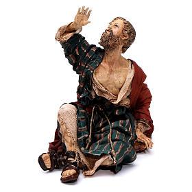 Annunciation to the Shepherds scene, 13 cm Angela Tripi figurines s5
