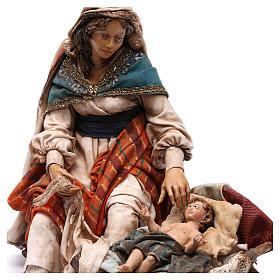 Natività Maria seduta e Giuseppe in piedi 18 cm Angela Tripi s2