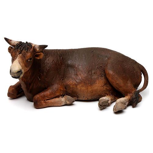 Lying ox by Angela Tripi 18 cm 1