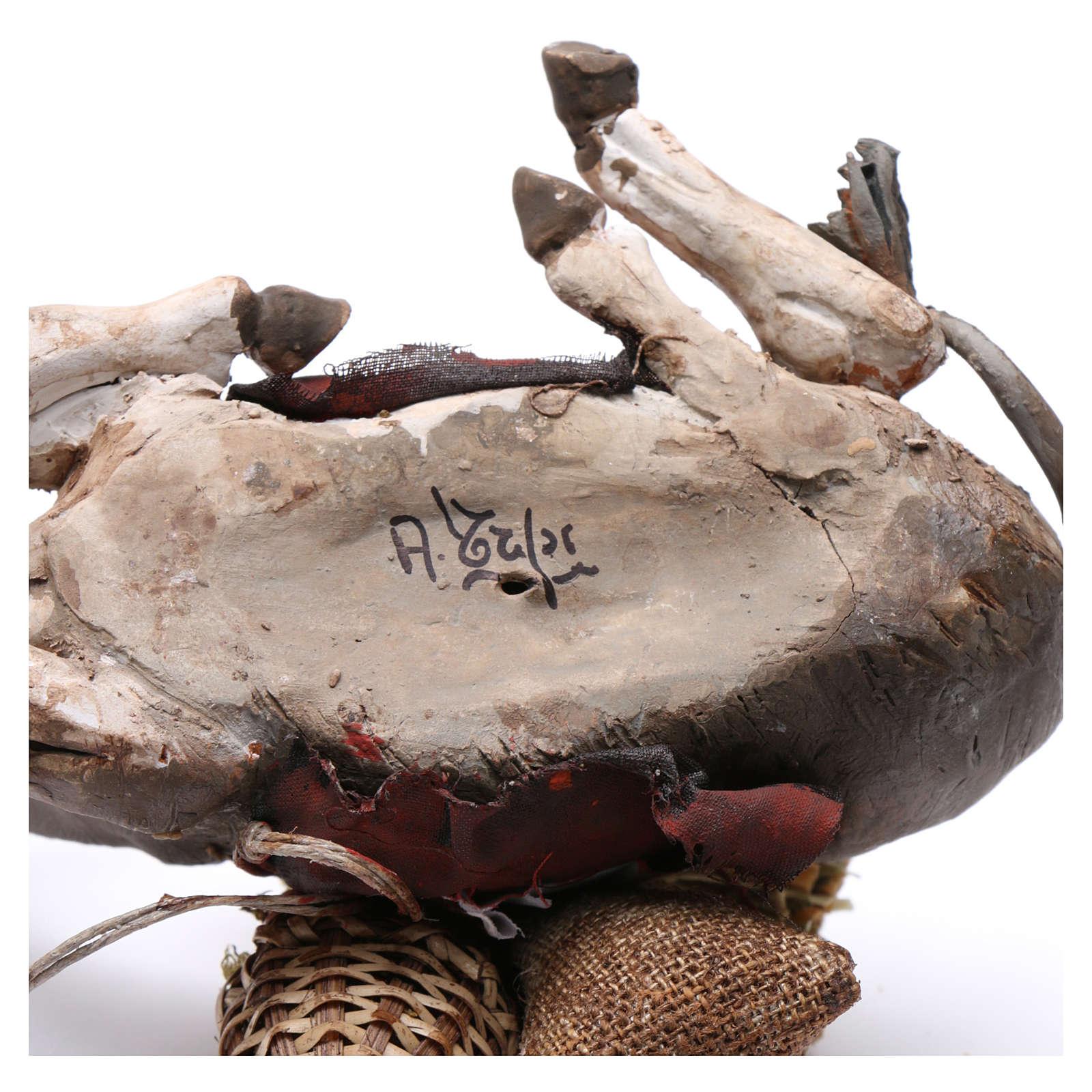 Asino accovacciato con carico 18 cm Angela Tripi 4
