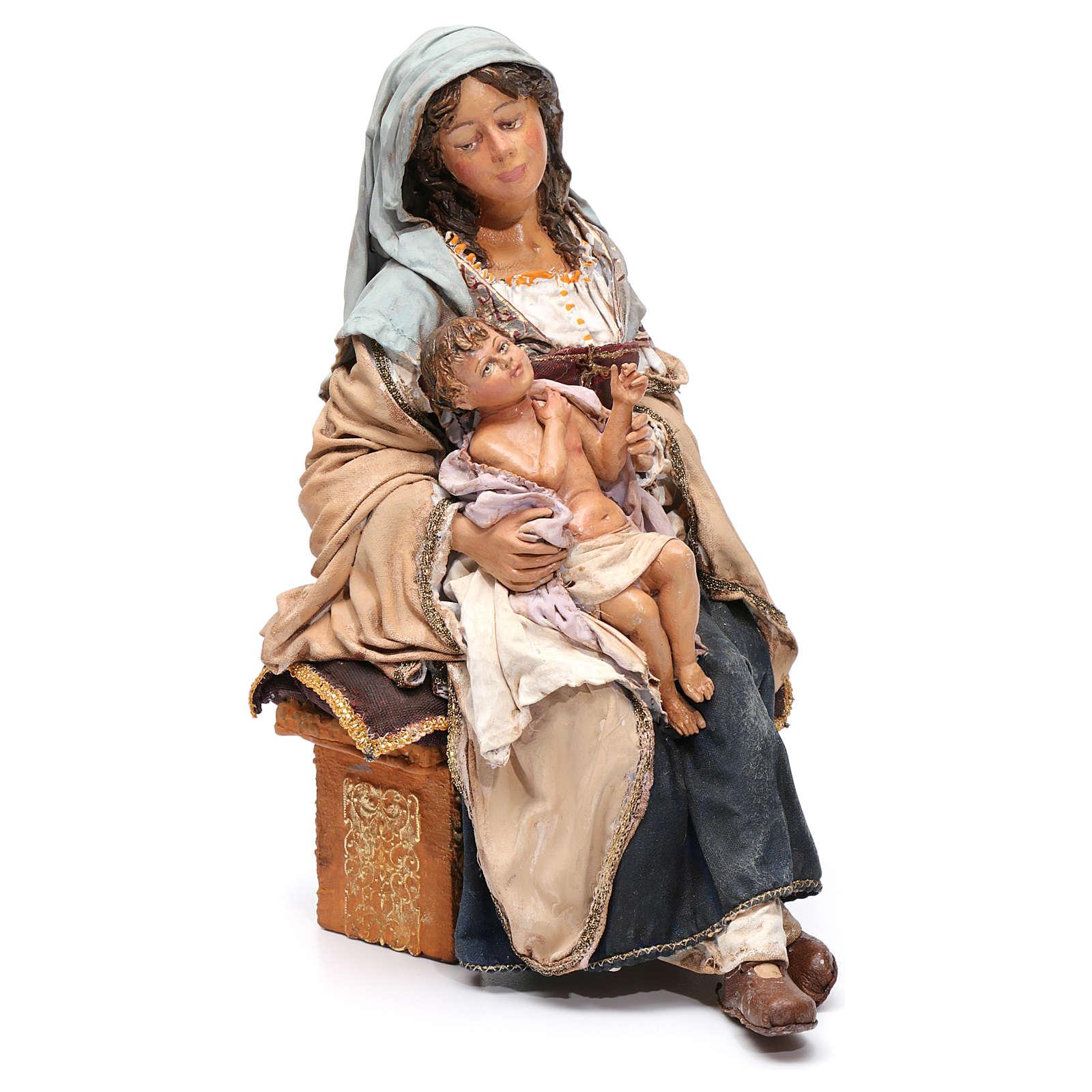 Natività con Bambino in braccio Angela Tripi 30 cm 4