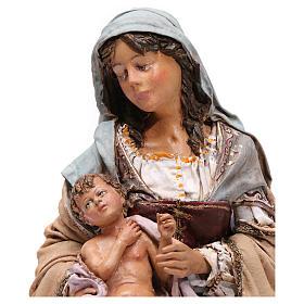 Natività con Bambino in braccio Angela Tripi 30 cm s2