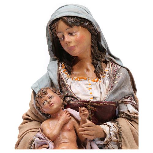 Natività con Bambino in braccio Angela Tripi 30 cm 2