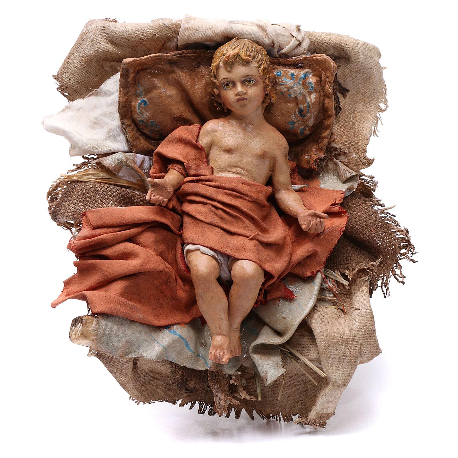 Natività 3 pz con Madonna seduta presepe Angela Tripi 30 cm 4