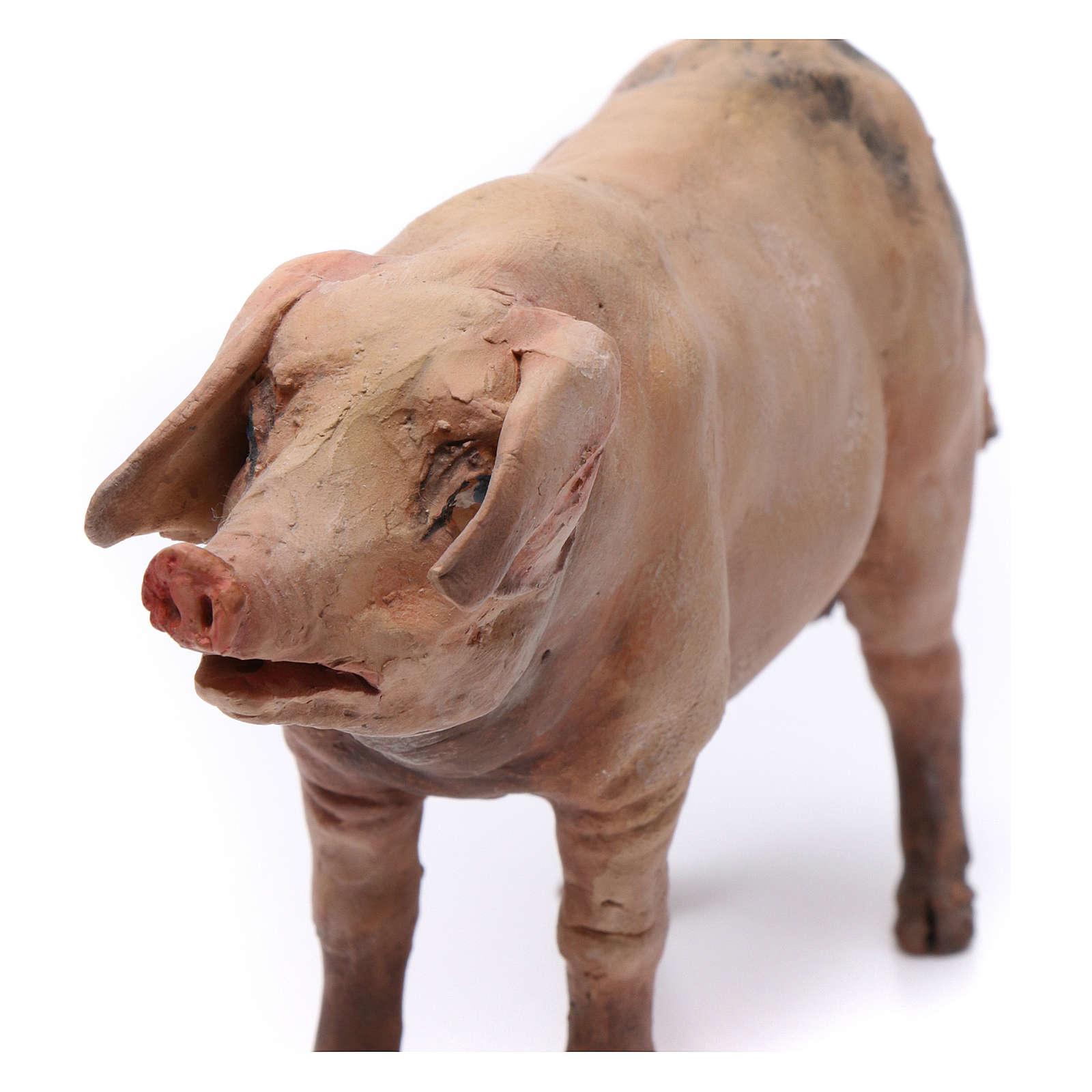 Pig for nativity scene by Angela Tripi 18 cm 4