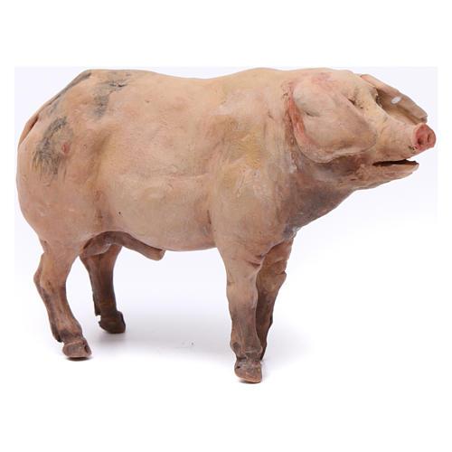 Pig for nativity scene by Angela Tripi 18 cm 5