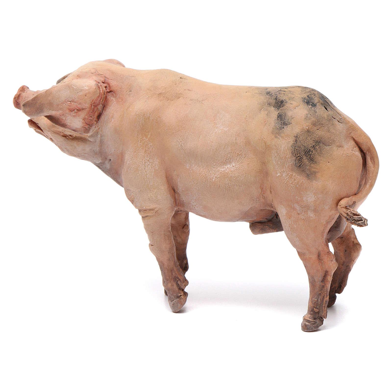 Cochon pour crèche Angela Tripi 18 cm 4