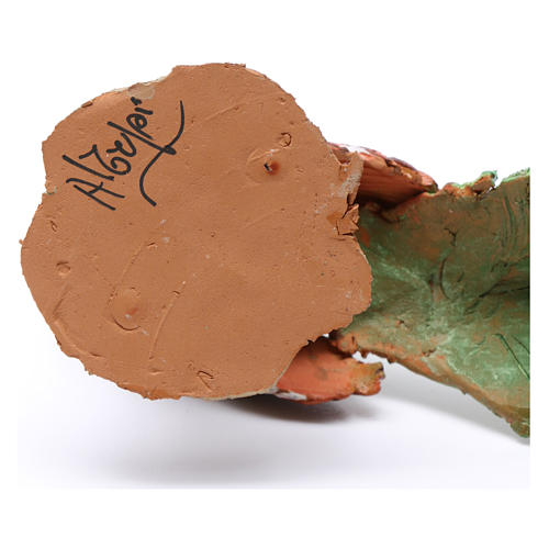 Pavone per presepe Angela Tripi 18 cm 6