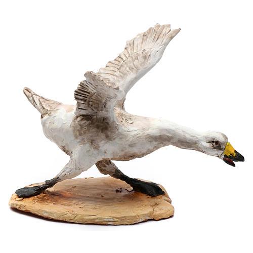 Pastore che caccia l'oca presepe da 30 cm Angela Tripi 6