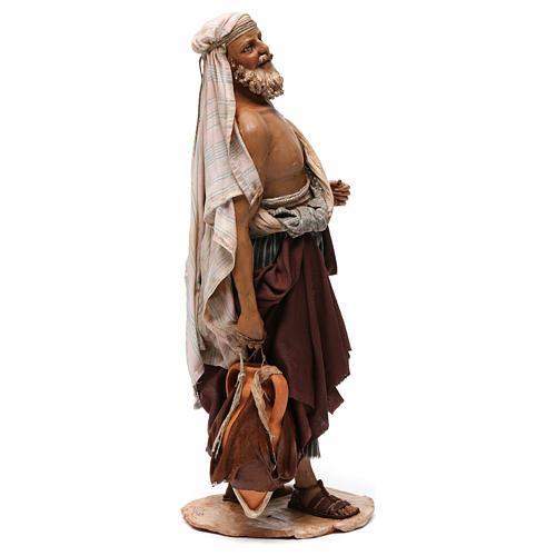 Pastore petto nudo presepe 30 cm Angela Tripi 4