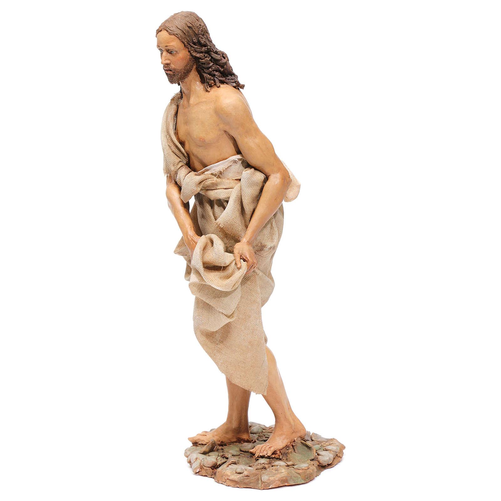 Battesimo di Gesù Scena Angela Tripi 30 cm 4