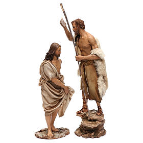 Battesimo di Gesù Scena Angela Tripi 30 cm s1