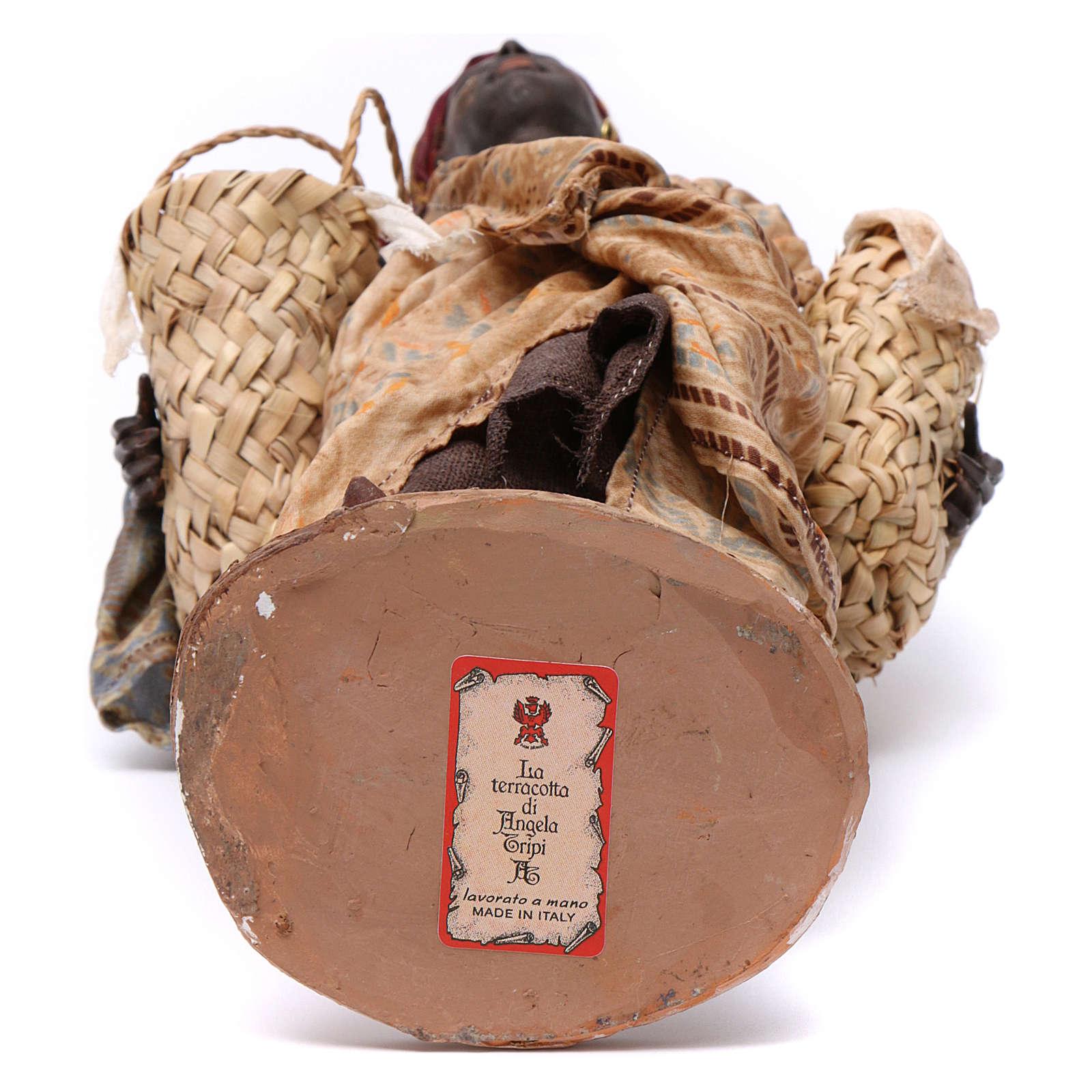 Schiava con zucche Presepe 30 cm Angela Tripi 4