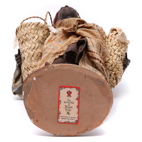Schiava con zucche Presepe 30 cm Angela Tripi 6