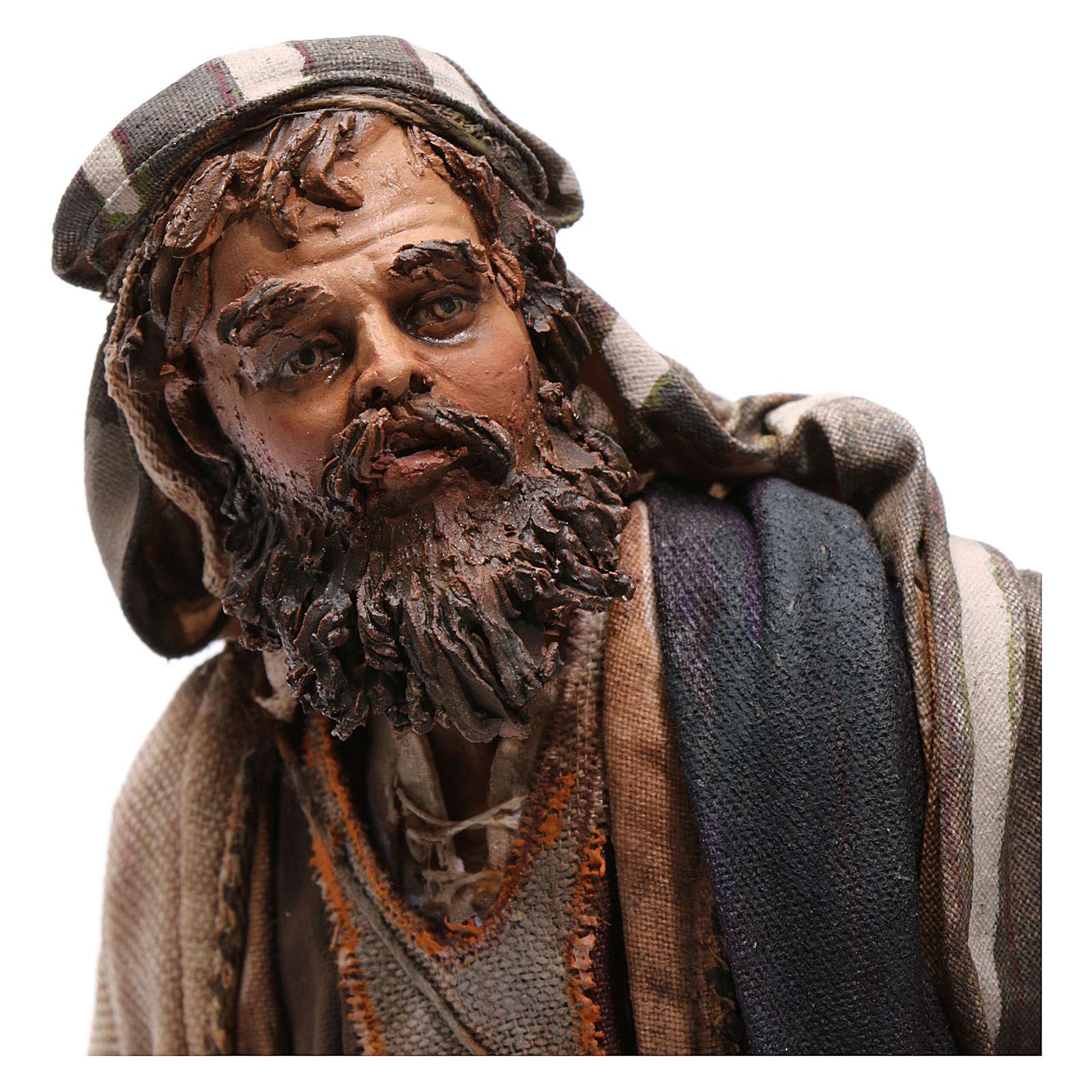 Fuga in Egitto, scena 30 cm Presepe Tripi 4