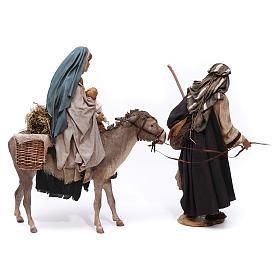 Fuga in Egitto, scena 30 cm Presepe Tripi s11