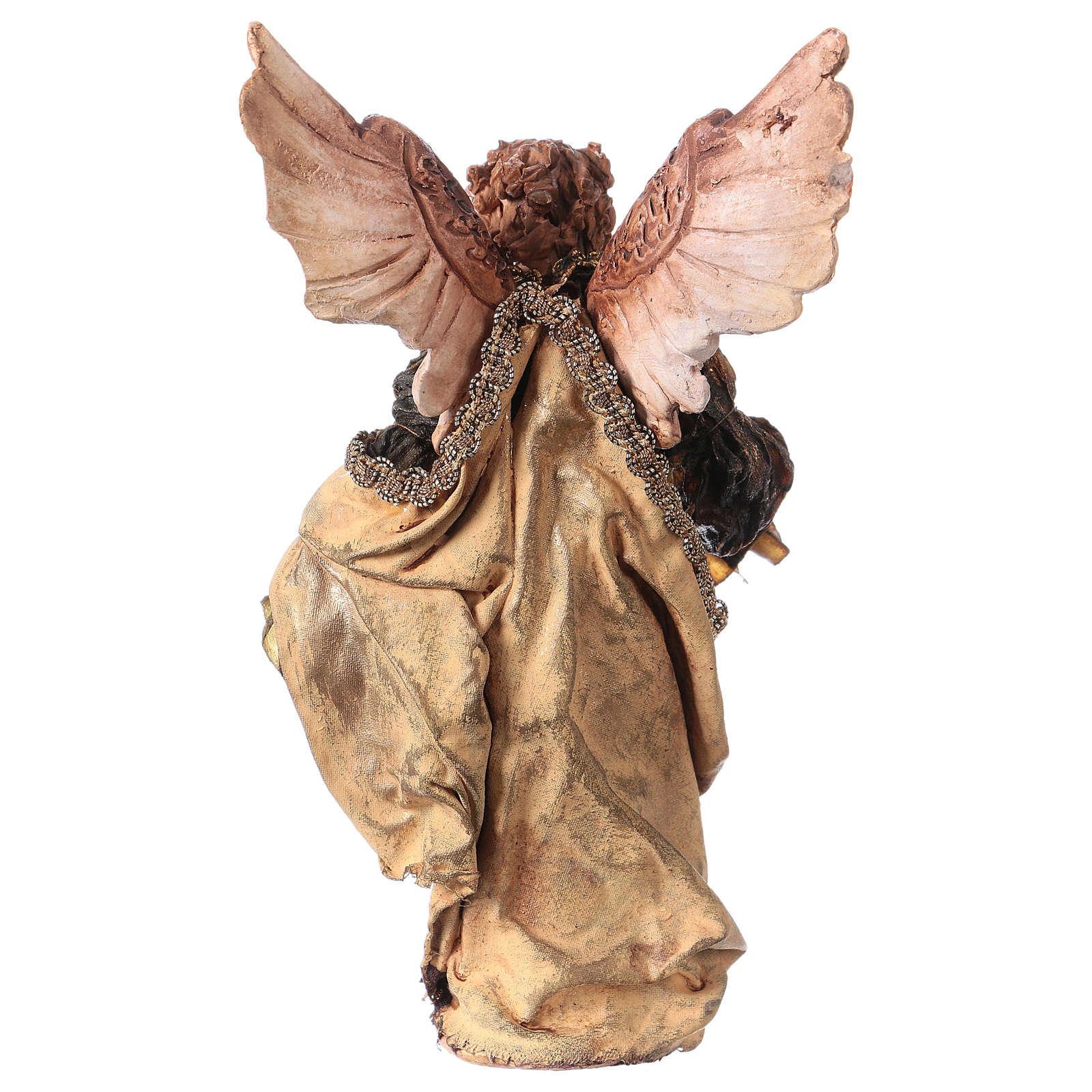 Ange Gloire debout annonce aux bergers 13 cm Angela Tripi 4