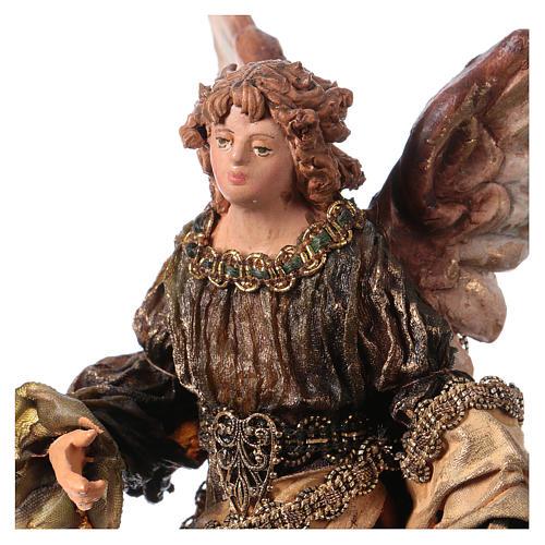 Ange Gloire debout annonce aux bergers 13 cm Angela Tripi 2