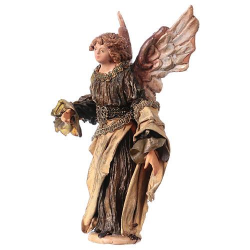 Ange Gloire debout annonce aux bergers 13 cm Angela Tripi 3