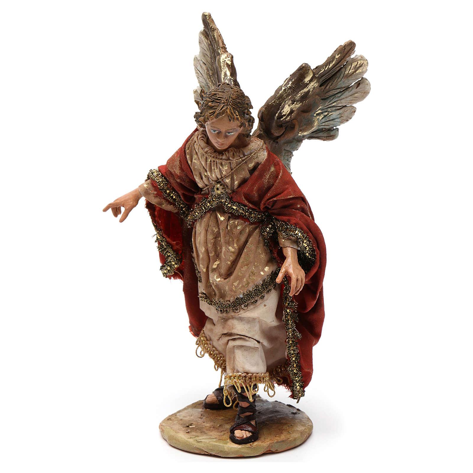 Angelo gloria in piedi, annuncio ai pastori 13 cm Tripi 4