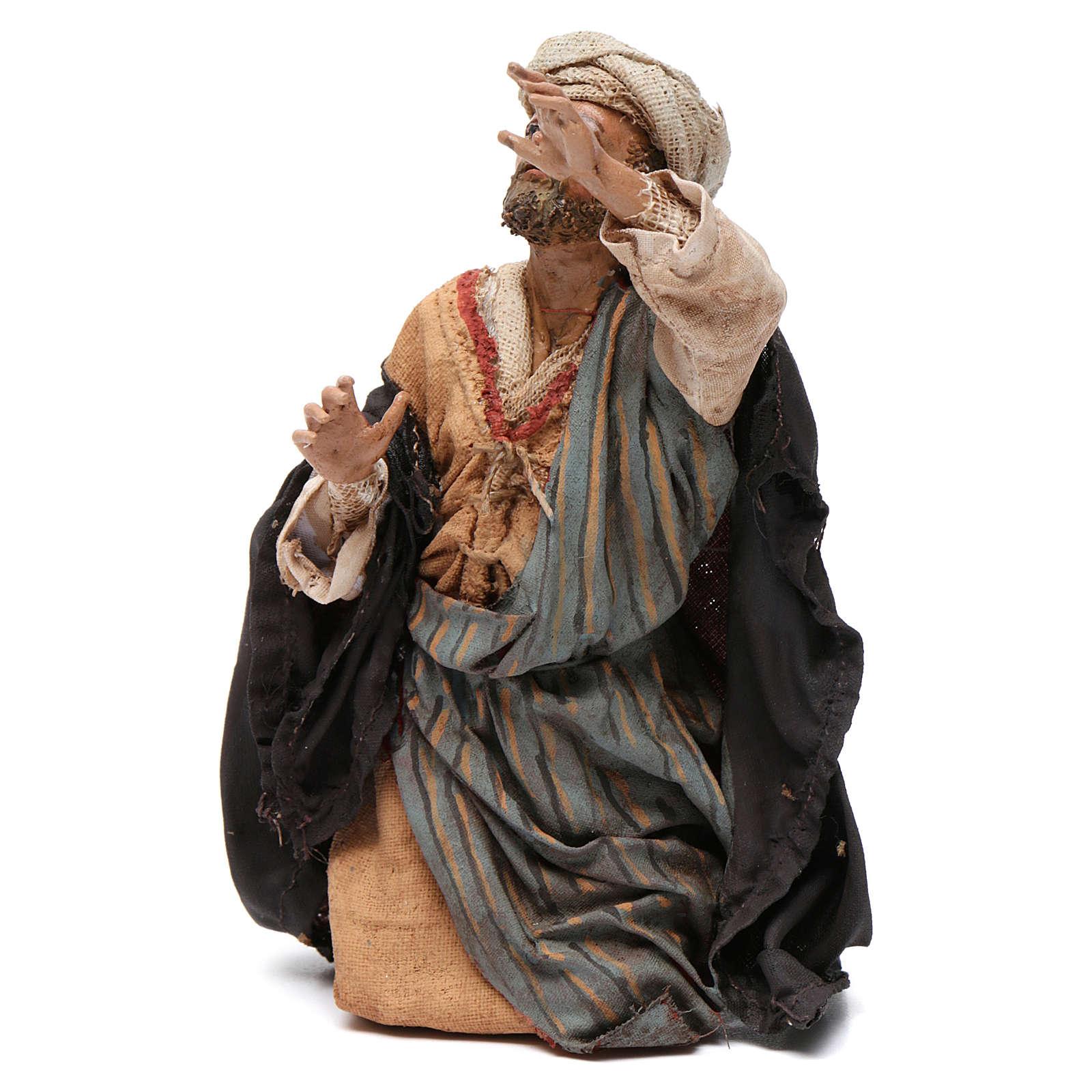 Pastore meravigliato 13 cm presepe Tripi 4