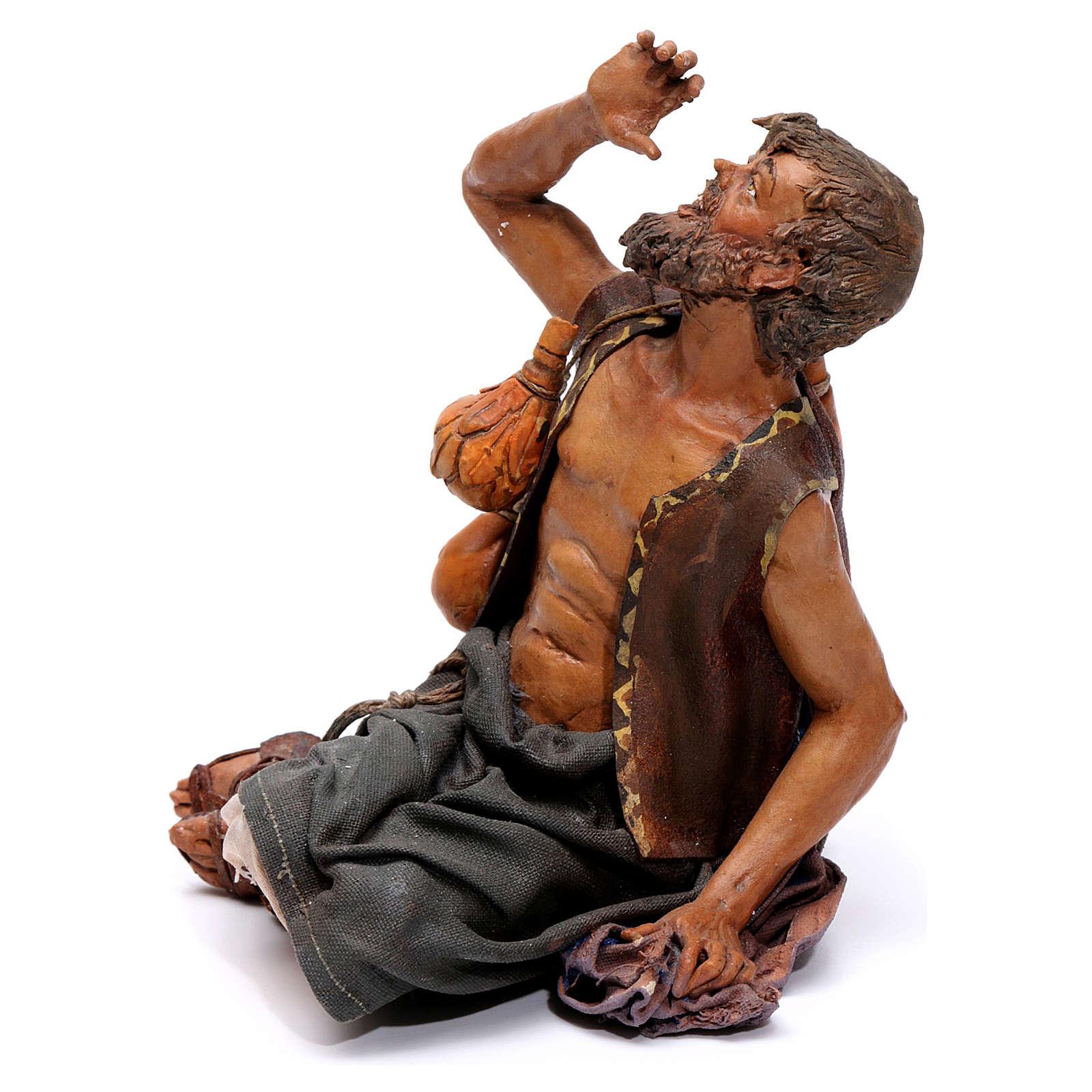 Pastore meravigliato presepe 18 cm Angela Tripi 4
